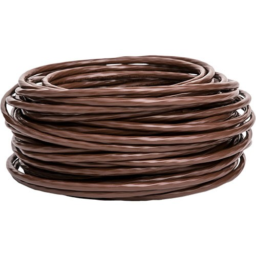 RPP | 20/2 Thermostat Wire, Solid Bare Copper, 250FT Reel, Brown