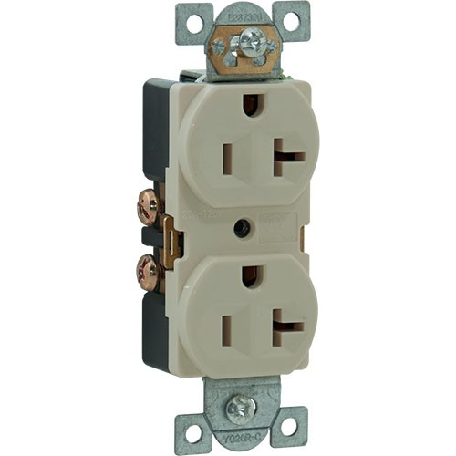 RPP | 20A 125V Duplex Receptacle, Side Wire, 5-20R