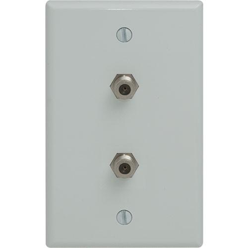 Duplex F-Connector Wallplate, Standard