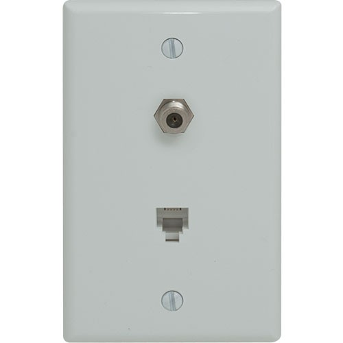 Magnificent Rpp Duplex Phone Coaxial Wallplate Standard Voice Data Video Wiring 101 Swasaxxcnl