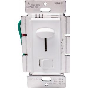 Universal Slide Dimmer, 150W LED/CFL, 700W Incandescent, 3-way
