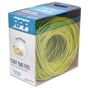 CAT 5E U/UTP 350MHz CM Cable, 1000 FT Pull Box (Yellow)