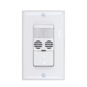 Dual-Technology PIR/Ultrasonic Wall Switch Occupancy Sensor