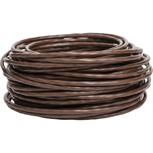 20/2 Thermostat Wire, Solid Bare Copper, 500FT Reel, Brown
