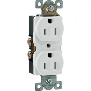 15A 125V Duplex Receptacle, Side Wire, 5-15R