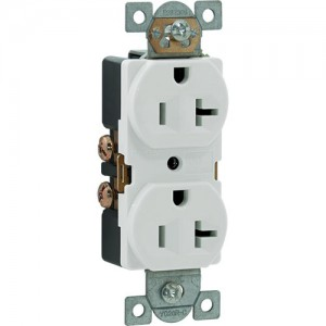 20A 125V Duplex Receptacle, Side Wire, 5-20R