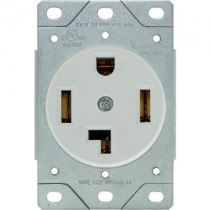 30A, 4-Wire Dryer Receptacle, Flush Mount