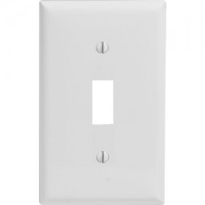 1-gang Toggle Switch Wallplate, Standard