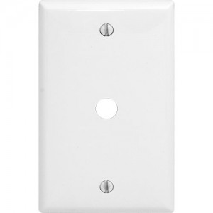 1-gang Phone/Cable Wallplate, Standard