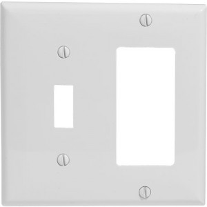 2-gang Toggle & Decorator Wallplate, Standard