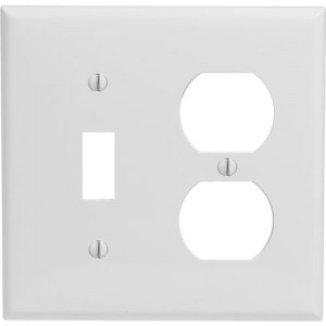2-gang Toggle & Duplex Wallplate, Standard