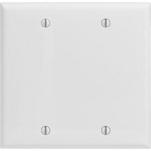 2-gang Blank Wallplate, Standard