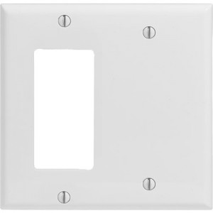 2-gang Decorator & Blank Wallplate, Standard