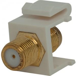 F-Connector Snap-In Connector, Gold