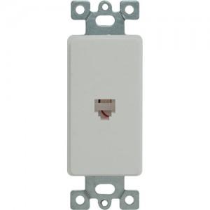 Telephone 4P4C Molded-In Decorator Frame