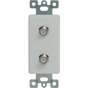Duplex F-Connector Molded-In Decorator Frame