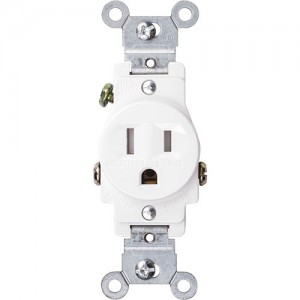 15A 125V Tamper-Resistant Single Receptacle, 5-15R