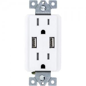 15A Duplex Receptacle/Dual USB